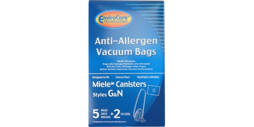 HEPA Microfiltration bag for miele canister vacuum Type G-N