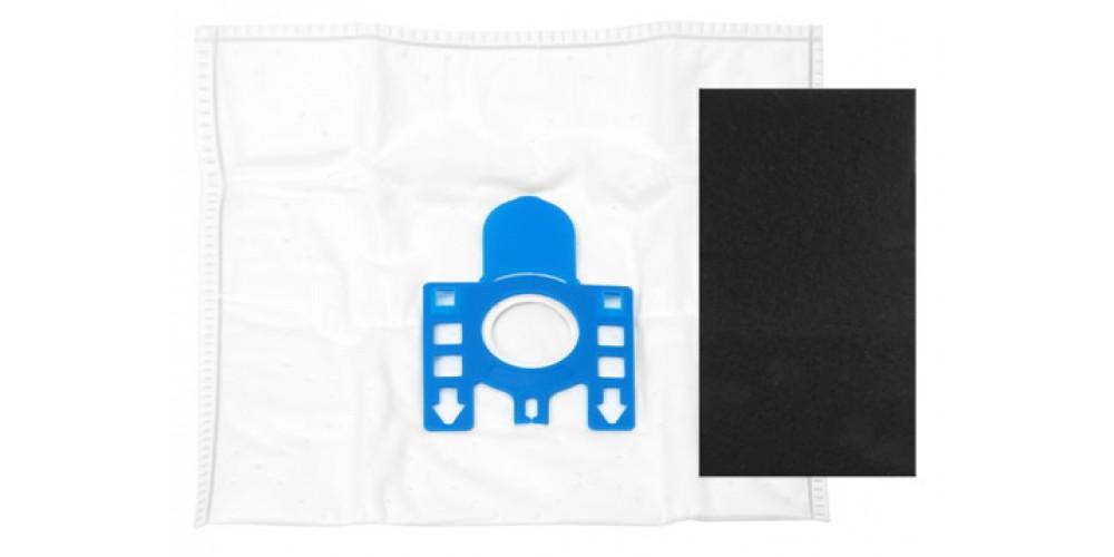 M pour aspirateur Miele Fjm Col Rouge Purefilta Hepa Aspirateur 5 Sacs /& Filtre Pack J Pour adapter Miele F